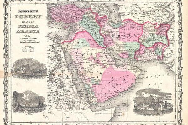 05 1862 Johnson Map of Arabia, Persia and Turkey in Asia